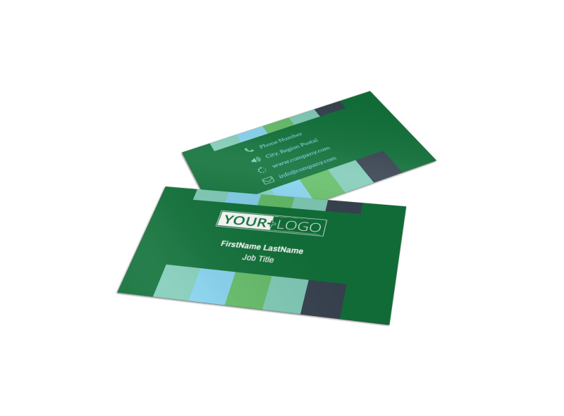 Marketing Consultant Business Card Template Preview 1