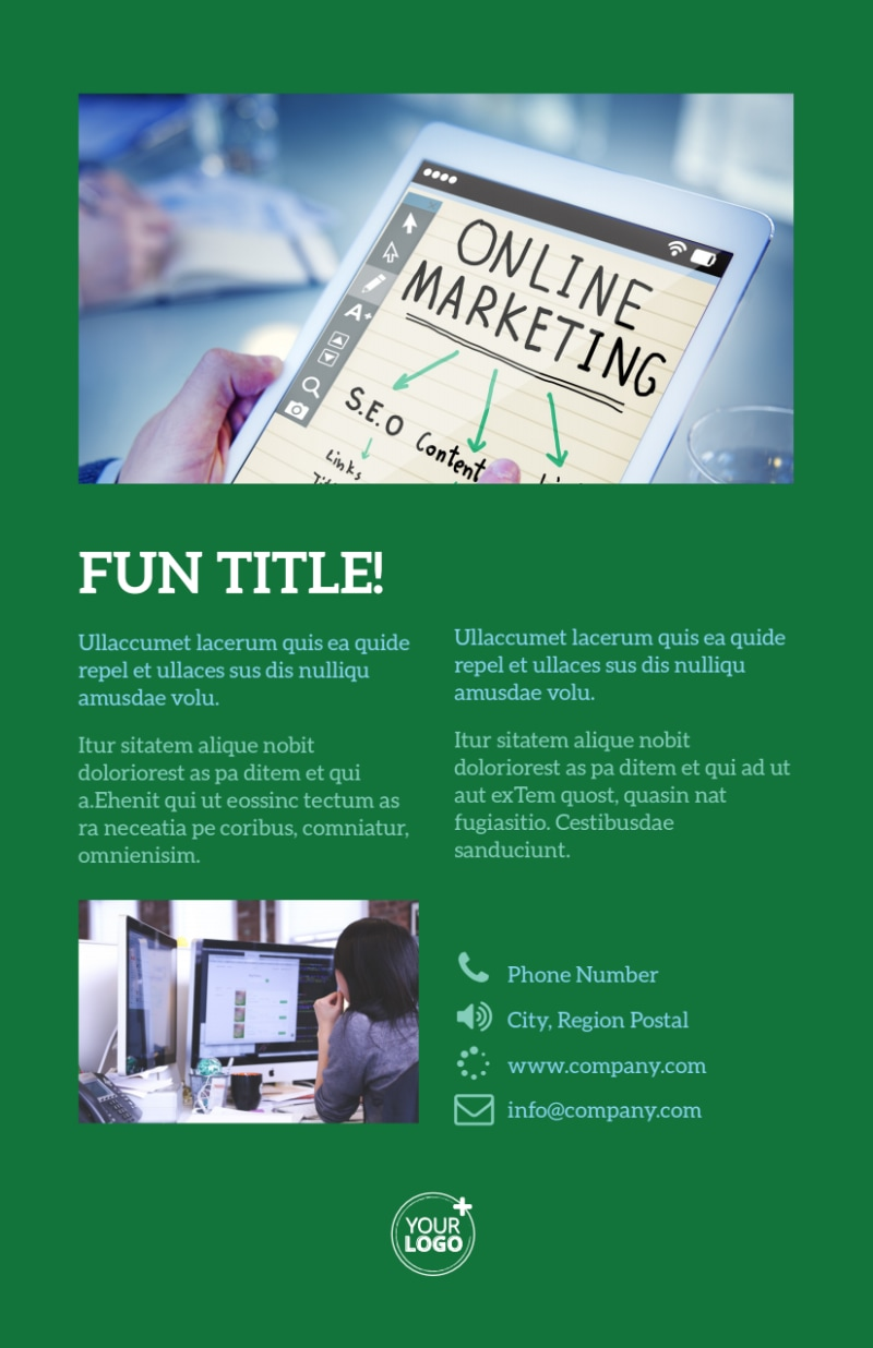 Marketing Consultant Flyer Template Preview 3