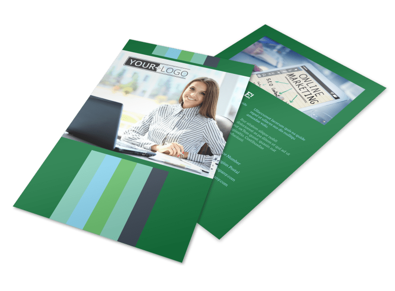Marketing Consultant Flyer Template Preview 1