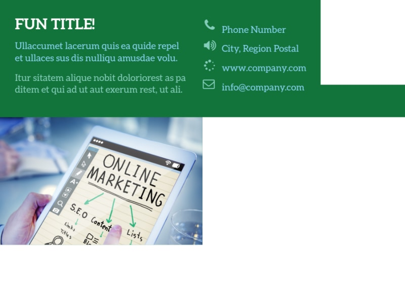 Marketing Consultant Postcard Template Preview 3