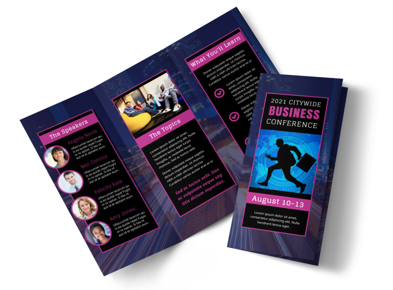 Business Conference Brochure Template  Mycreativeshop