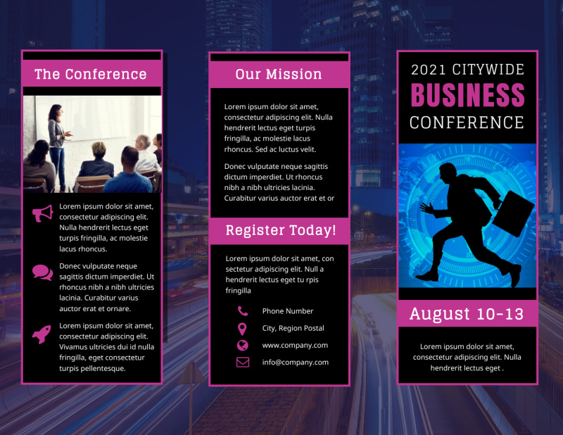 Business Conference Brochure Template Preview 2