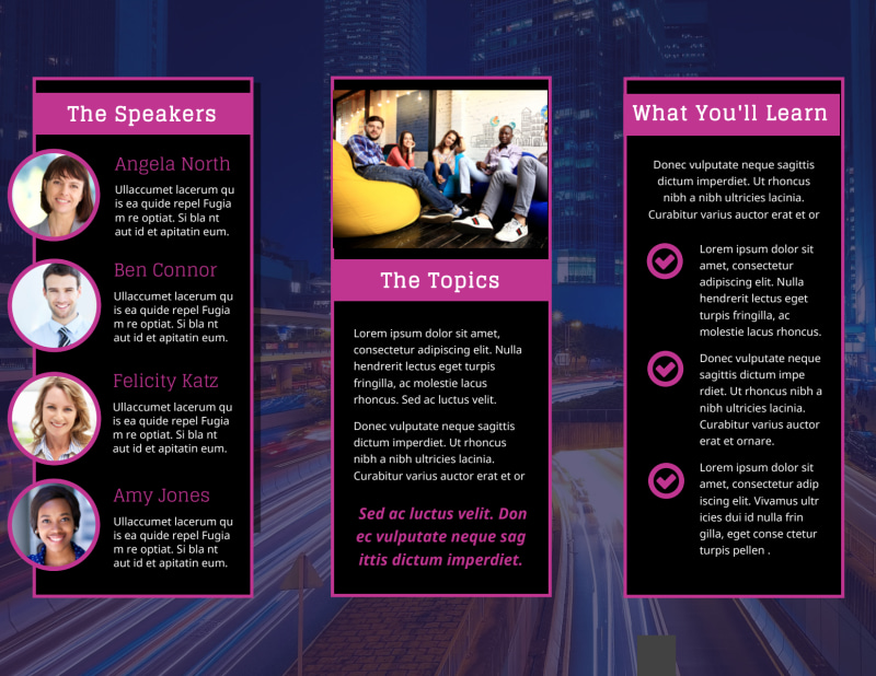 Business Conference Brochure Template Preview 3