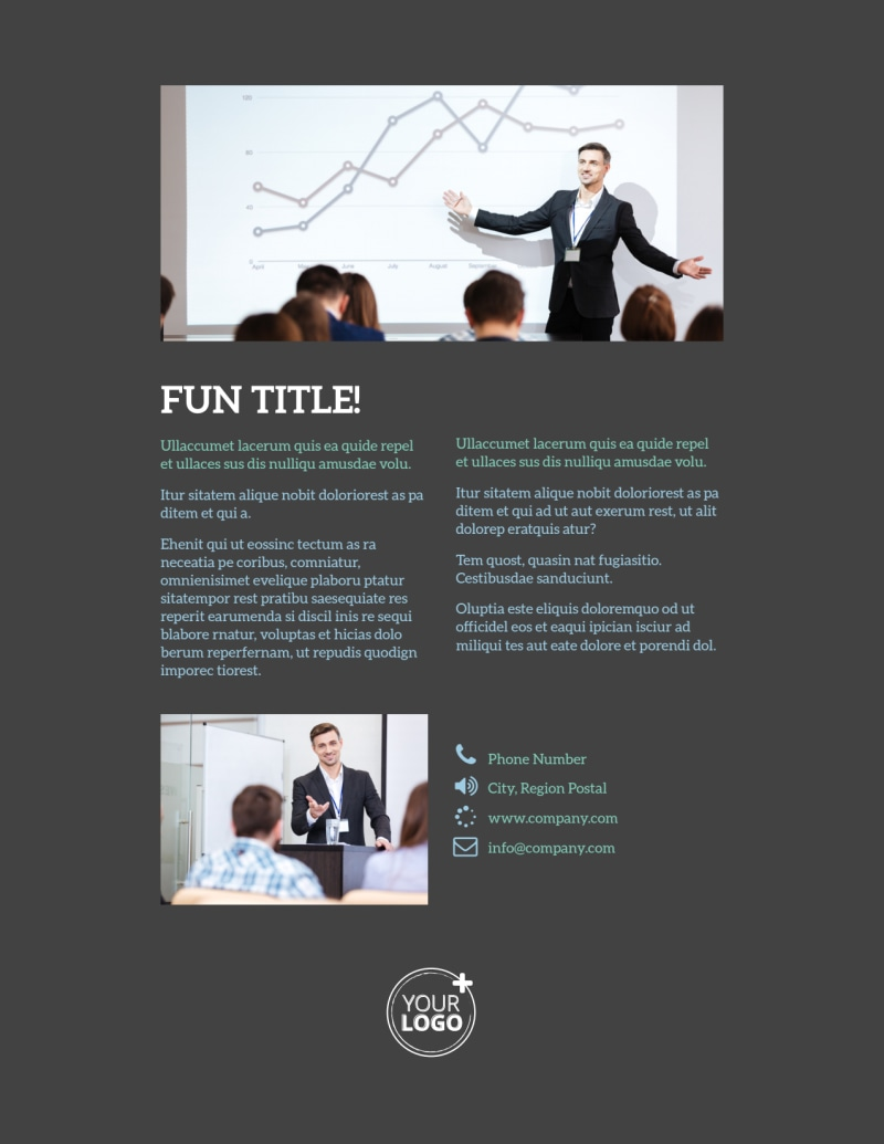 Business Conference Flyer Template Preview 3