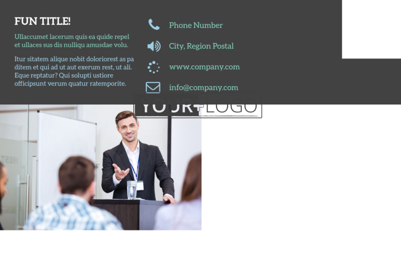 Business Conference Postcard Template Preview 3