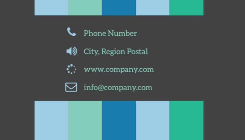 Business Conference Business Card Template Preview 3