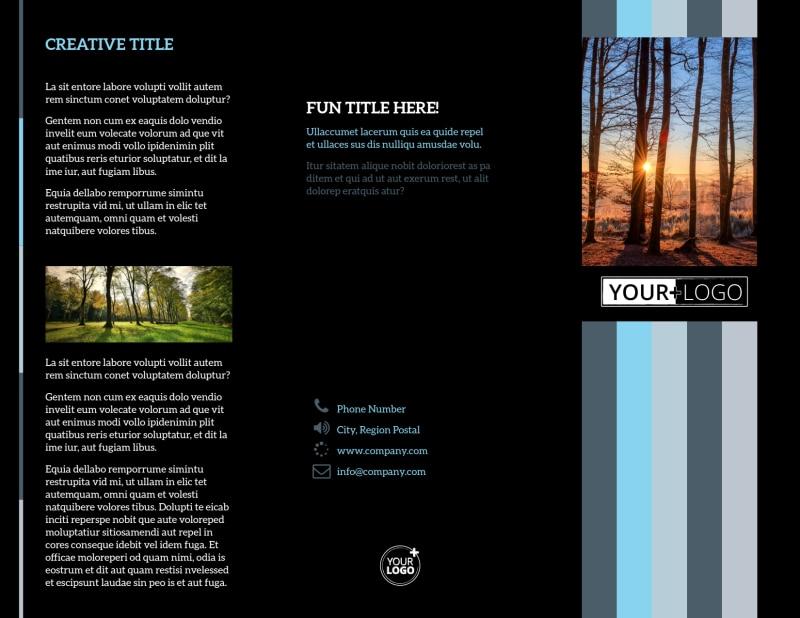 Landscape Photographer Brochure Template Preview 2