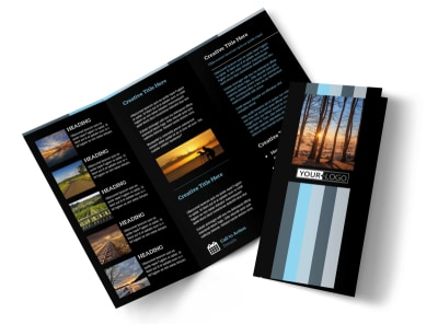 Landscape Photographer Tri-Fold Brochure Template preview