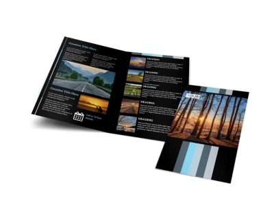 Landscape Photographer Bi-Fold Brochure Template preview