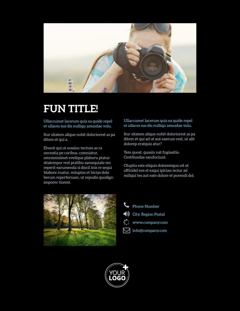 Landscape Photographer Flyer Template Preview 3