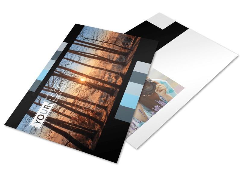 Landscape Photographer Postcard Template