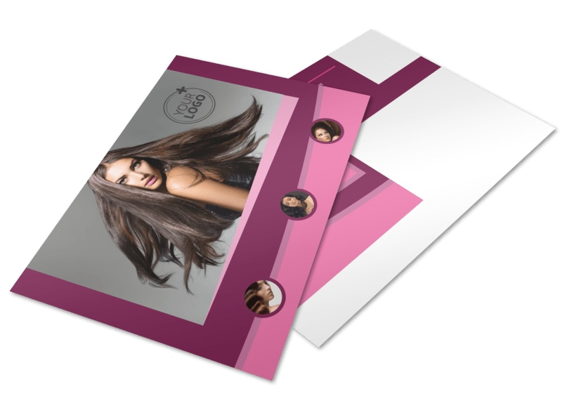 Beauty Parlour Postcard Template 2