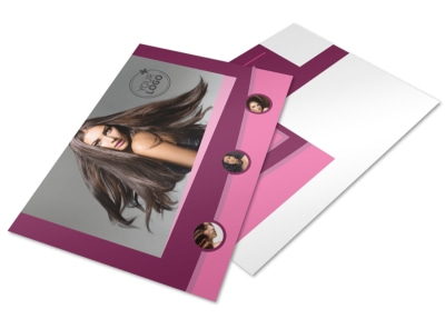 Beauty Parlour Postcard Template 2