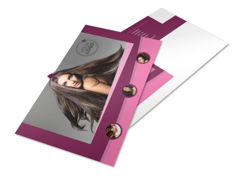 Beauty Parlour Postcard Template
