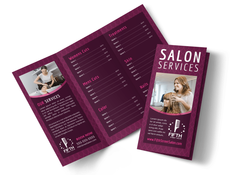 Beauty Parlour Brochure Template Preview 1