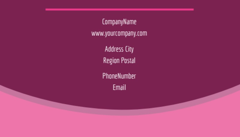 Beauty Parlour Business Card Template Preview 3