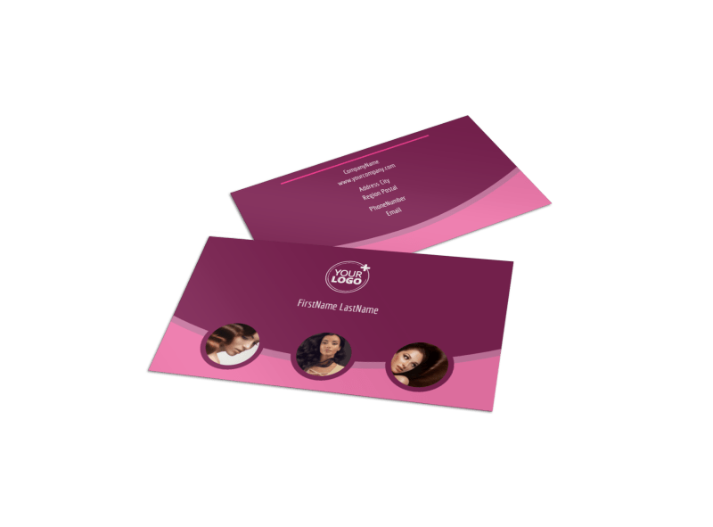 Beauty Parlour Business Card Template Preview 1