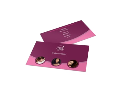 Beauty Parlour Business Card Template