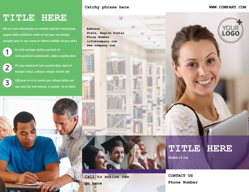 University Studies Brochure Template Preview 2