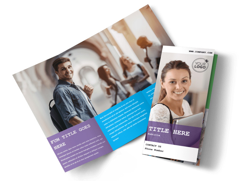 University Studies Brochure Template – University Brochure Template