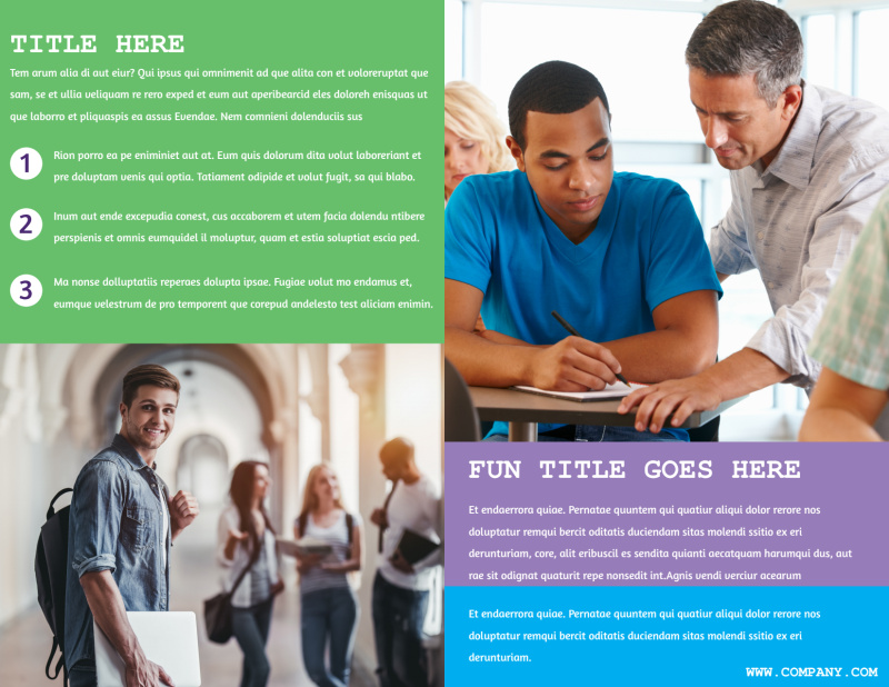 University Studies Brochure Template Preview 3