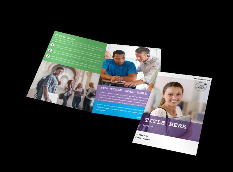 University Studies Brochure Template Preview 1