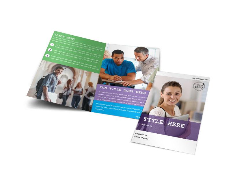 College & University Bi-Fold Brochure Template