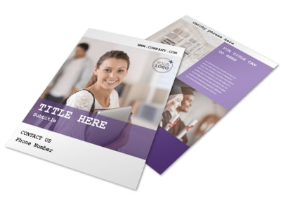 college brochure design ideas - college university flyer template