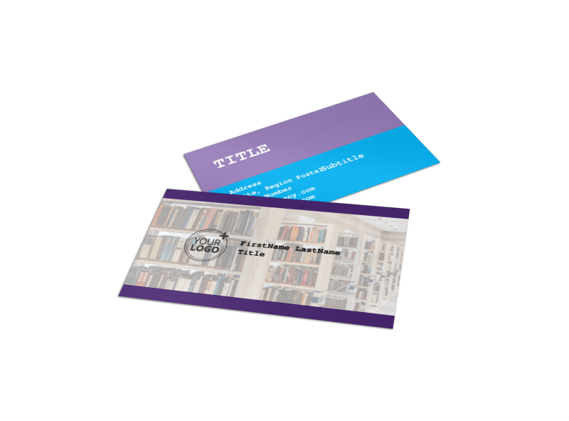 University Studies Business Card Template Preview 1