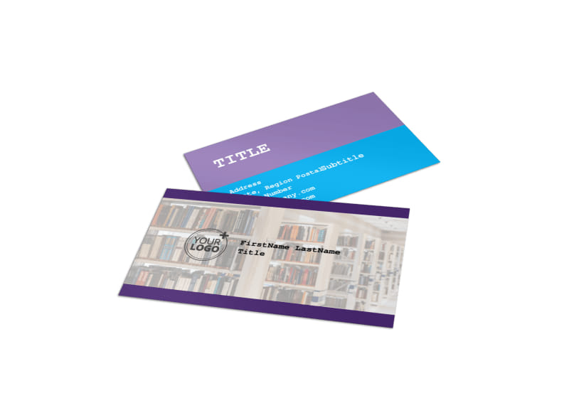 College & University Business Card Template
