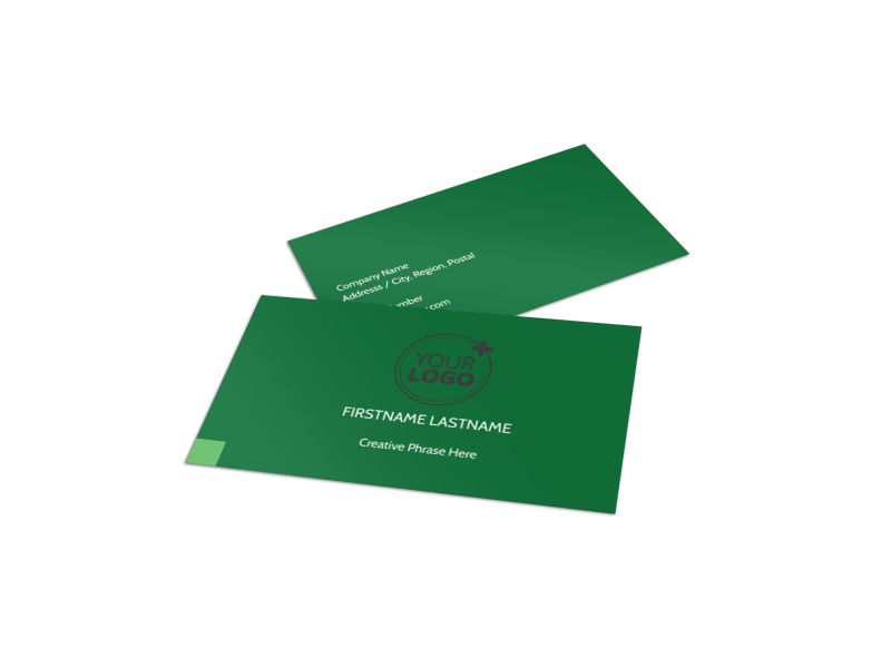 Lawn Mowing Business Card Template Preview 1