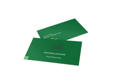 Lawn Care & Mowing Services Business Card Template preview