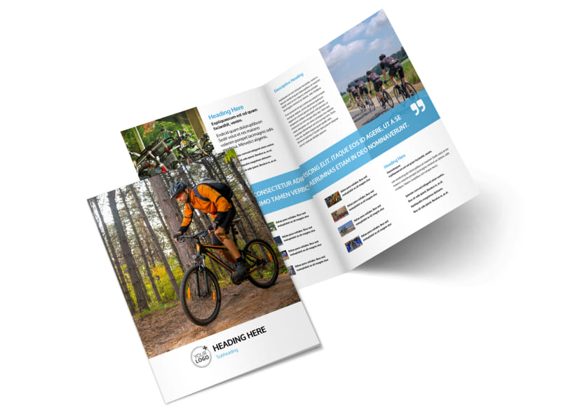 Bike Repair Bi-Fold Brochure Template 2