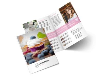 Cake & Candy Store Bi-Fold Brochure Template 2