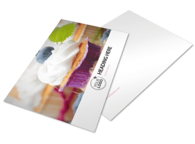 Cake & Candy Store Postcard Template 2