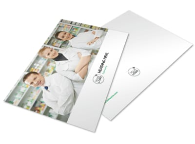 Pharmacy School Postcard Template preview