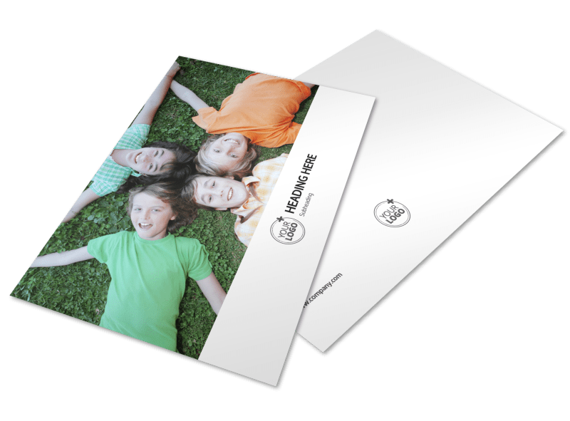 Youth Summer Camp Postcard Template Preview 1
