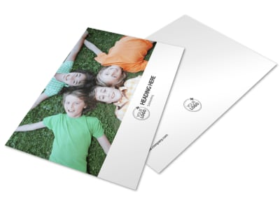 Kids Summer Camp Postcard Template preview