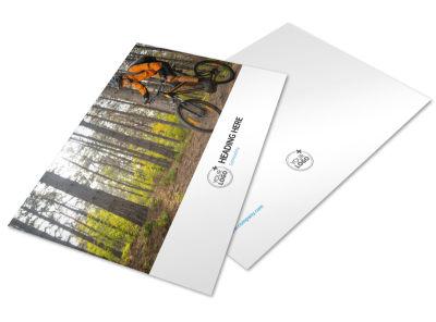 Bike Repair Postcard Template preview