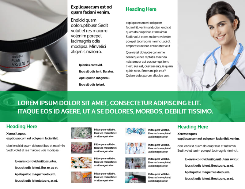 School of Pharmacy Brochure Template Preview 3