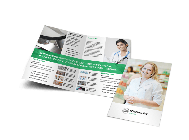 School of Pharmacy Brochure Template Preview 1