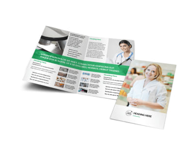 Pharmacy School Bi-Fold Brochure Template preview