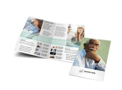 Depression & Anxiety Counseling Bi-Fold Brochure Template preview