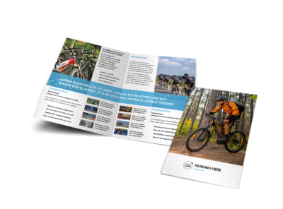 Bike Repair Bi-Fold Brochure Template