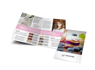 Cake & Candy Store Bi-Fold Brochure Template