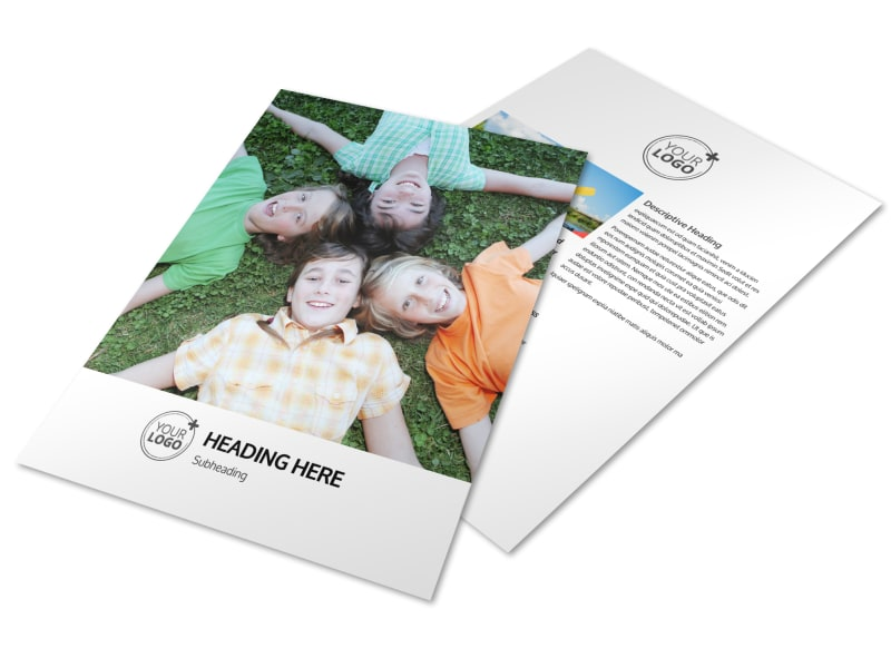 Youth Summer Camp Flyer Template  Mycreativeshop