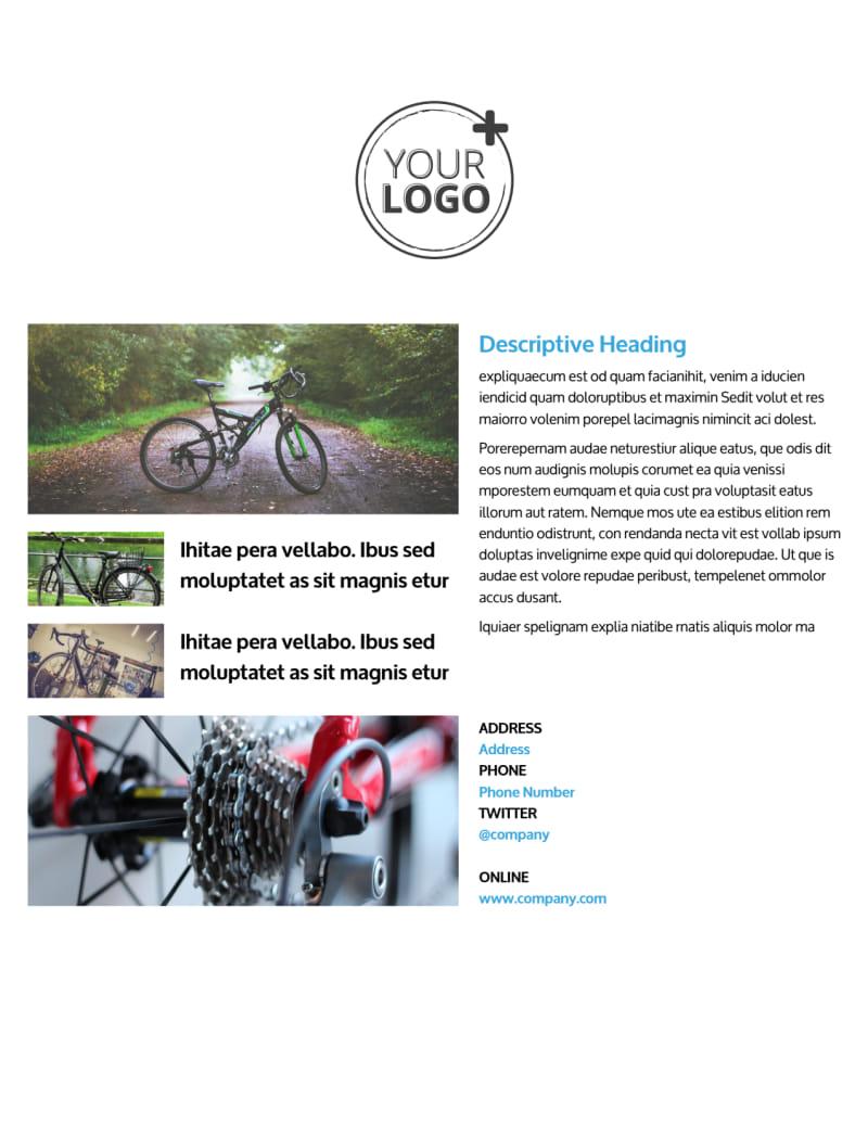 Bike Repair Flyer Template Mycreativeshop