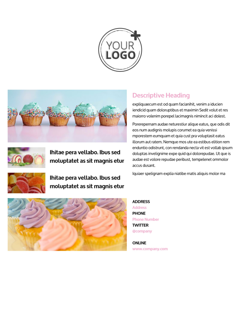 Cake & Candy Store Flyer Template Preview 3