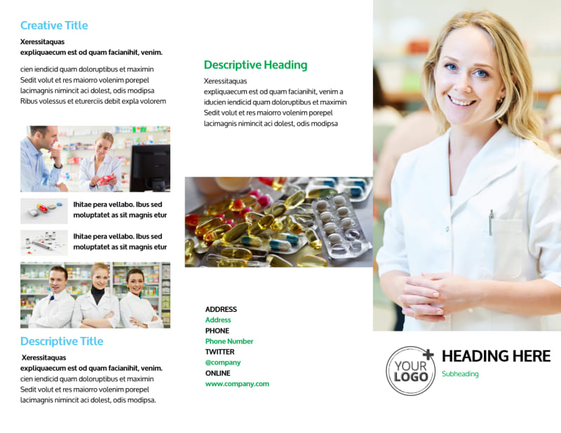 School of Pharmacy Brochure Template Preview 2