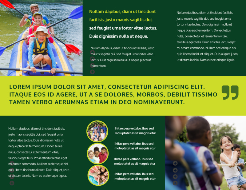 Youth Summer Camp Brochure Template Preview 3